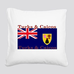 TurksCaicos Square Canvas Pillow