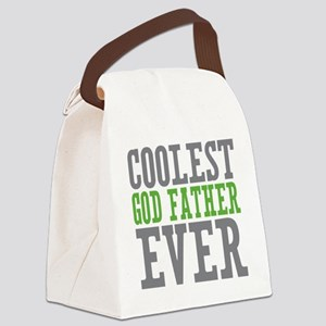 Coolest God Father Canvas Lunch Bag