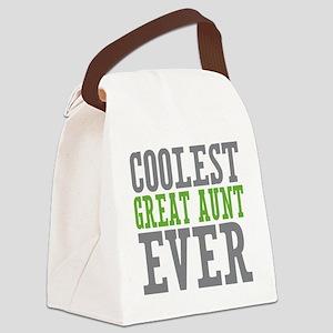 Coolest Great Aunt Canvas Lunch Bag