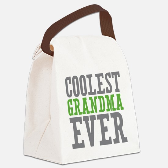 Coolest Grandma Canvas Lunch Bag