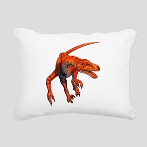 Velociraptor Rectangular Canvas Pillow