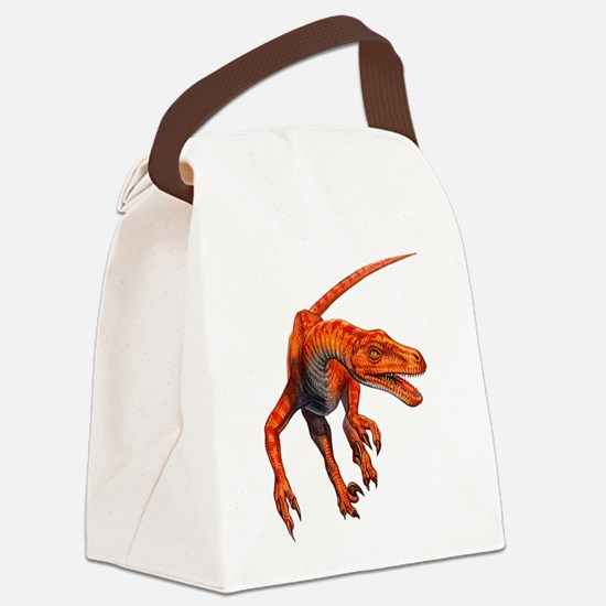 Velociraptor.png Canvas Lunch Bag