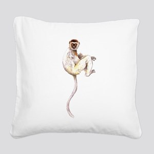 VerreauxSifaka Square Canvas Pillow