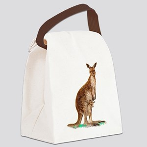 WesternGrayKangaroo Canvas Lunch Bag