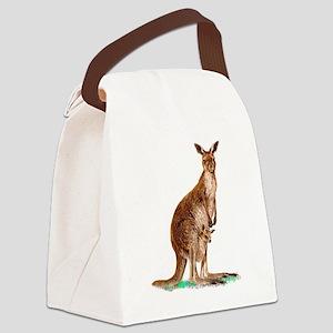 WesternGrayKangaroo Canvas Lunch Bag