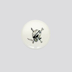 Original Skull Pirate design Mini Button