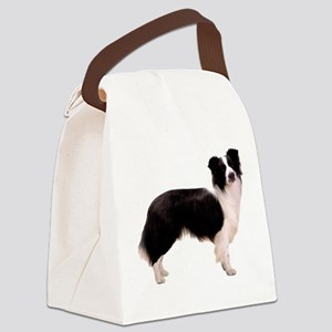 BorderCollieBlack Canvas Lunch Bag