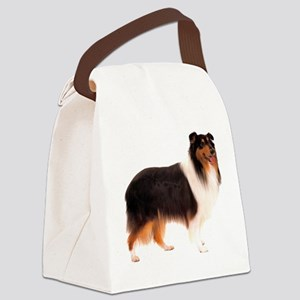 CollieBlackStriped Canvas Lunch Bag