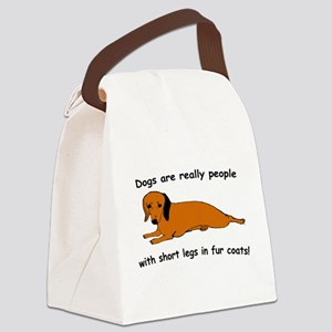 Dachwhite Canvas Lunch Bag