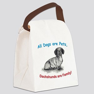 Dachshundblack Canvas Lunch Bag