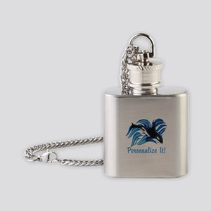 PERSONALIZED Ocean Orca Flask Necklace