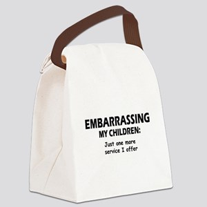 Embarrassingblue Canvas Lunch Bag