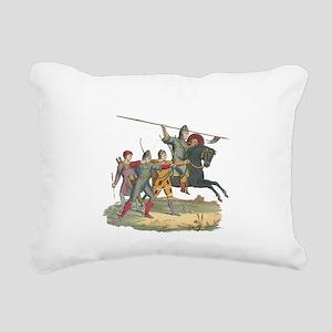 3-Knights2 Rectangular Canvas Pillow