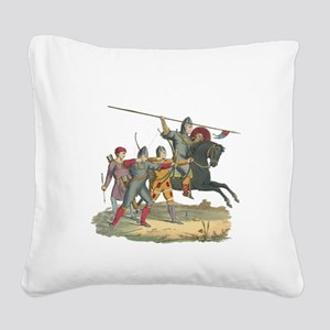 3-Knights2 Square Canvas Pillow