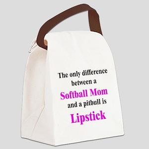 2-SoftballMom Canvas Lunch Bag