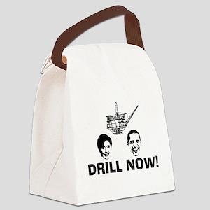 DRILLNOWBLK Canvas Lunch Bag