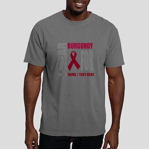 Burgundy Awareness Ribbo Mens Comfort Colors Shirt