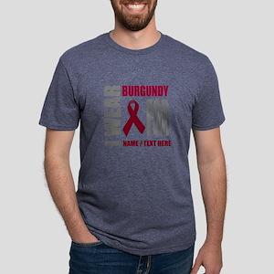 Burgundy Awareness Ribbon C Mens Tri-blend T-Shirt