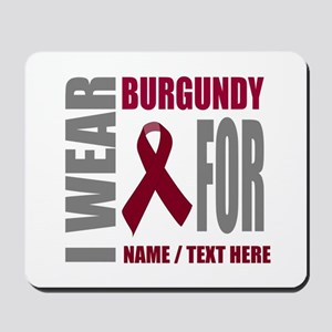Burgundy Awareness Ribbon Customized Mousepad