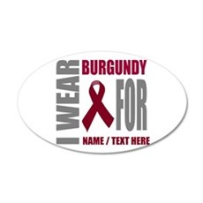 Burgundy Awareness Ribbon Cu Wall Decal