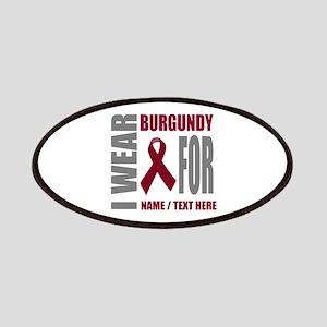 Burgundy Awareness Ribbon Customized Patch