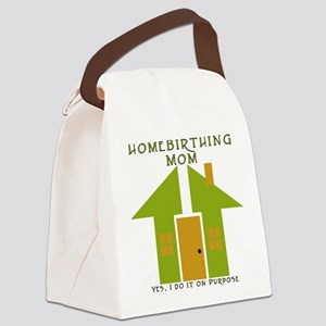 homebirthing_mom_yes Canvas Lunch Bag