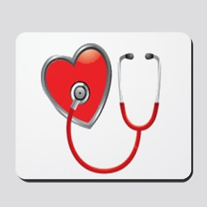 Heart with Stethoscope Mousepad
