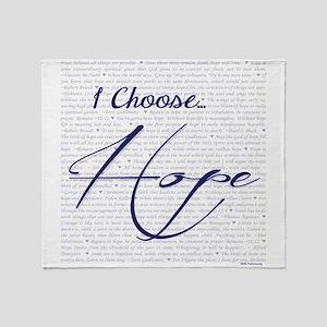 I Choose Hope Throw Blanket
