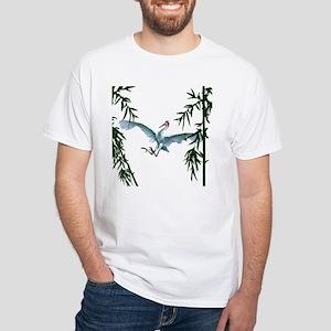 White T-Shirt, White Crane Kung Fu