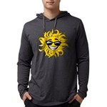 Smiley Face Sun Mens Hooded Shirt
