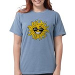 Smiley Face Sun Womens Comfort Colors Shirt