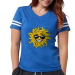 Smiley Face Sun Womens Football Shirt