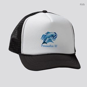 PERSONALIZED Ocean Dolphin Kids Trucker hat