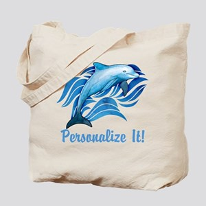 PERSONALIZED Ocean Dolphin Tote Bag