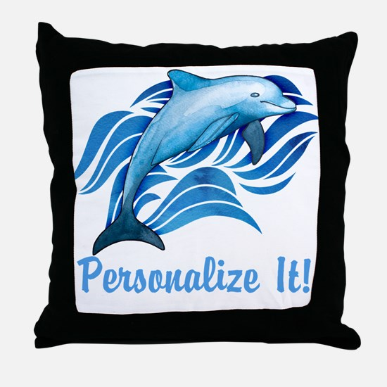 PERSONALIZED Ocean Dolphin Throw Pillow