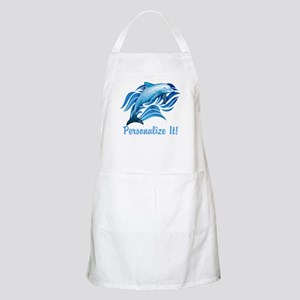 PERSONALIZED Ocean Dolphin Light Apron