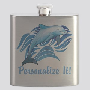 PERSONALIZED Ocean Dolphin Flask