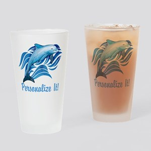 PERSONALIZED Ocean Dolphin Drinking Glass
