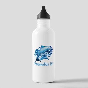 PERSONALIZED Ocean Dolphin Water Bottle