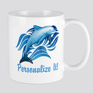 PERSONALIZED Ocean Dolphin Mugs