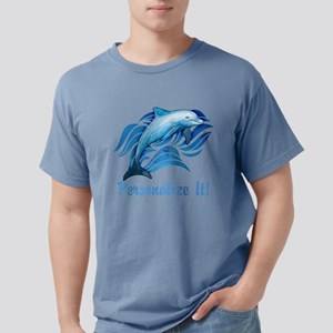 PERSONALIZED Ocean Dolphin Mens Comfort Colors Shi