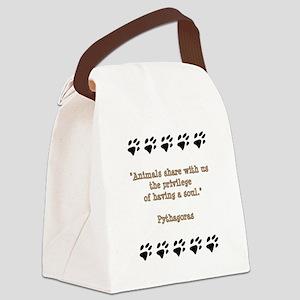 Pythagoras Quote Canvas Lunch Bag