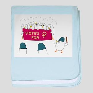 Women's Suffrage baby blanket