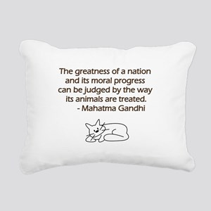 Gandhi Cat Quote Rectangular Canvas Pillow