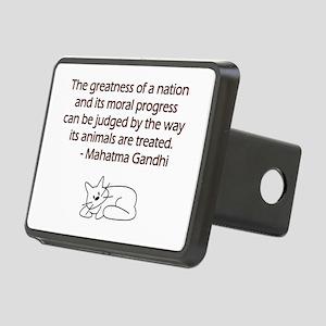 Gandhi Cat Quote Rectangular Hitch Cover