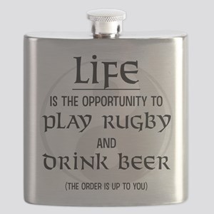 Rugby and Beer Flask