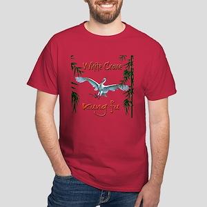 Dark T-Shirt, White Crane Kung Fu