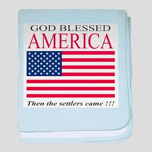 GOD BLESSED AMERICA baby blanket