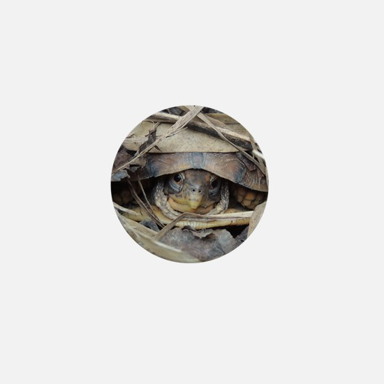 Camo Turtle Mini Button