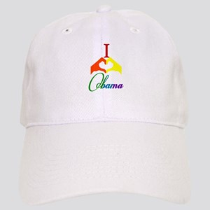 I Love Obama Rainbow Cap